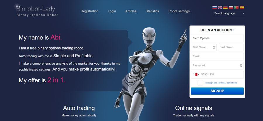 robot abi pentru opțiuni binare