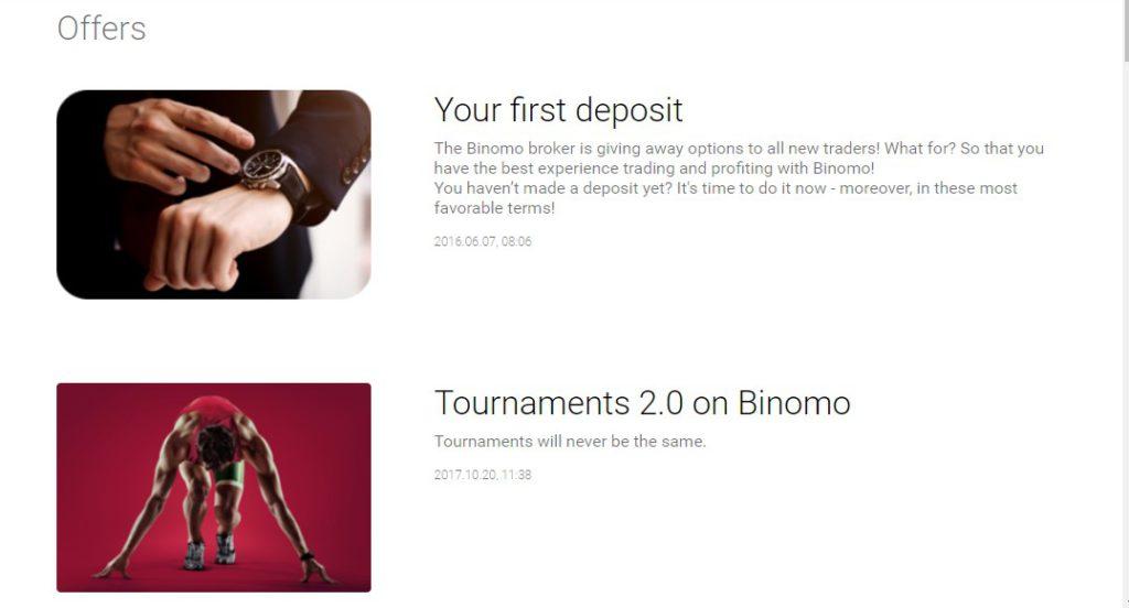 Binomo Bonuses
